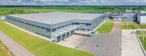 Склад сырья завода Kimberly‑Clark